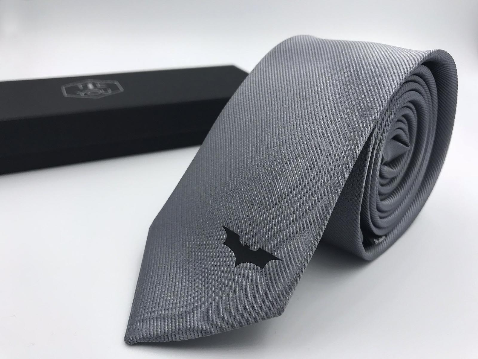 Valentine/'s Day Batman Silk Tie Black Edition Wedding Christmas Fathers Day