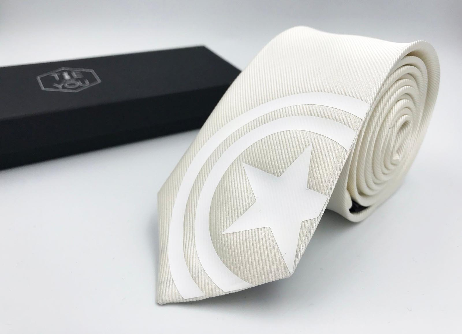 Wedding Tie Slim Tie Captain America Silk Tie Black Edition Avengers