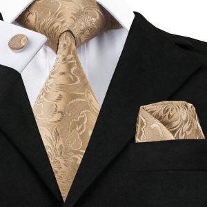 Gold Wedding Tie Set